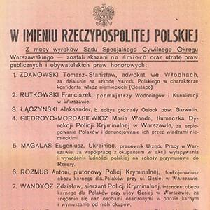 A poster of the Directorate of Underground Resistance